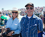 Jim and Vicki Jackson from Mindon, NV at the Air Races at the Reno-Stead Airfield on Sunday, Sept. 20, 2015.
