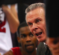 Badgers coach Bo Ryan inspires players to a Wisconsin 75-49 win over Penn State on Saturday at the Kohl Center