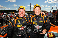 IMSA Continental Tire SportsCar Challenge<br /> Mobil 1 SportsCar Grand Prix<br /> Canadian Tire Motorsport Park<br /> Bowmanville, ON CAN<br /> Saturday 8 July 2017<br /> 56, Porsche, Porsche Cayman, ST, Jeff Mosing, Eric Foss, celebrate, win, winners, victory lane<br /> World Copyright: Scott R LePage/LAT Images