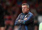 30th September 2017, Vitality Stadium, Bournemouth, England; EPL Premier League football, Bournemouth versus Leicester; Leicester Manager Craig Shakespeare folds his arms in reaction to his side loosing possession