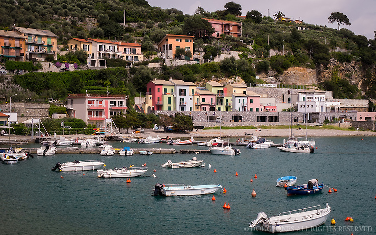 A small, Mediterranean harbor in the Ligurian Sea on in northwestern Italy.