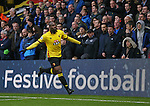 Watford's Stefano Okaka celebrates scoring his sides opening goal during the Premier League match at Vicarage Road Stadium, London. Picture date December 10th, 2016 Pic David Klein/Sportimage