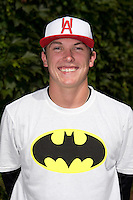 Beau Burrows (55) of Weatherford High School in Weatherford, Texas poses for a photo during practice before the Under Armour All-American Game on August 16, 2014 at Wrigley Field in Chicago, Illinois.  (Mike Janes/Four Seam Images)