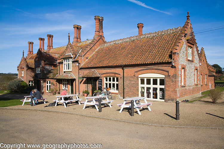 Estate buildings in village of Holkham, Norfolk, England