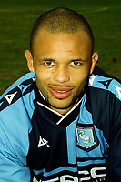 Roy Essandoh, Wycombe Wanderers FA Cup hero, who scored the late winning goal to knockout Leicester City City in the quarter final in 2001 during Walsall vs Wycombe Wanderers, Nationwide League Division Two Football at Bescot Stadium on 24th March 2001