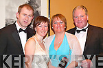 PICTURE: Posing for a picture on their way into the Feale Rangers Ball in The Listowel Arms Hotel on Friday night were Aidan and Mary Dunphy with Hilda and Patrick Doody (Kilflynn).   Copyright Kerry's Eye 2008