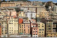 - Genoa, houses of historical downtown....- Genova, case del centro storico