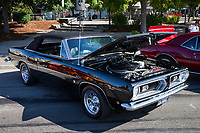 Black Plymouth Barracuda, Return to Renton Auto Show 2017, Washington, USA.