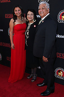 "HOLLYWOOD, LOS ANGELES, CA, USA - MARCH 20: Daniella Chavez, Dolores Huerta, Paul Chavez at the Los Angeles Premiere Of Pantelion Films And Participant Media's ""Cesar Chavez"" held at TCL Chinese Theatre on March 20, 2014 in Hollywood, Los Angeles, California, United States. (Photo by David Acosta/Celebrity Monitor)"