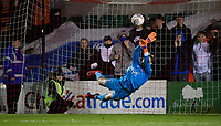 Lincoln City's Sam Slocombe saves a penalty taken by Wolverhampton Wanderers U21's Ryan Giles<br /> <br /> Photographer Chris Vaughan/CameraSport<br /> <br /> The EFL Checkatrade Trophy Northern Group H - Lincoln City v Wolverhampton Wanderers U21 - Tuesday 6th November 2018 - Sincil Bank - Lincoln<br />  <br /> World Copyright © 2018 CameraSport. All rights reserved. 43 Linden Ave. Countesthorpe. Leicester. England. LE8 5PG - Tel: +44 (0) 116 277 4147 - admin@camerasport.com - www.camerasport.com<br /> <br /> Photographer Chris Vaughan/CameraSport<br /> <br /> The EFL Checkatrade Trophy Northern Group H - Lincoln City v Wolverhampton Wanderers U21 - Tuesday 6th November 2018 - Sincil Bank - Lincoln<br />  <br /> World Copyright © 2018 CameraSport. All rights reserved. 43 Linden Ave. Countesthorpe. Leicester. England. LE8 5PG - Tel: +44 (0) 116 277 4147 - admin@camerasport.com - www.camerasport.com