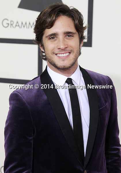 Pictured: Diego Boneta<br /> Mandatory Credit &copy; Frederick Taylor/Broadimage<br /> 56th Annual Grammy Awards - Red Carpet<br /> <br /> 1/26/14, Los Angeles, California, United States of America<br /> <br /> Broadimage Newswire<br /> Los Angeles 1+  (310) 301-1027<br /> New York      1+  (646) 827-9134<br /> sales@broadimage.com<br /> http://www.broadimage.com