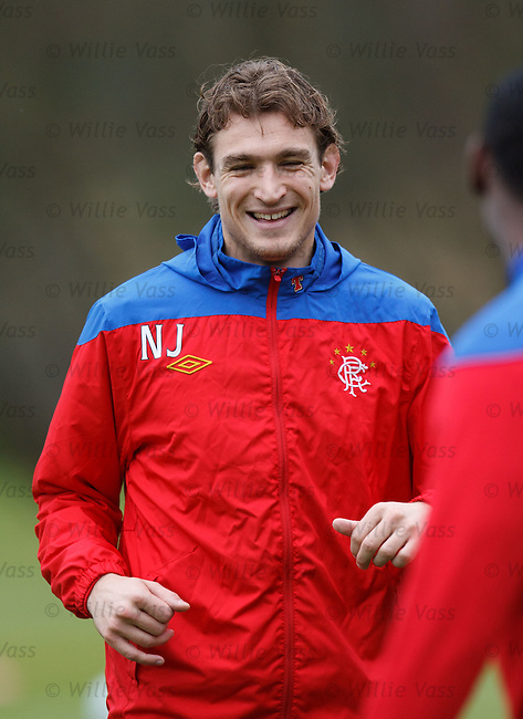Nikica Jelavic having a laugh