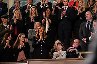FEBRUARY 5, 2019 - WASHINGTON, DC: First Lady Melania Trump and guest Grace Eline during the State of the Union address at the Capitol in Washington, DC on February 5, 2019.<br /> CAP/MPI/RS<br /> ©RS/MPI/Capital Pictures