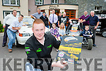 Denis Nagle launching the John Divane Memorial, Killarney Autocross which will be held on Sunday August 2nd, at the Travel Inn Fossa on Wednesday evening back row l-r: Anthony O'Connor, Paul O'Shea, Martin Farrell, Niall McClarnon, George Saary, Dan McSweeney, Tom Daly,m Pat looney, Diarmuid Lynch front row: Sarah Daly, Tara Looney Luke Moynihan