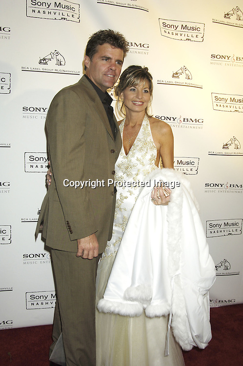 Richie McDonald and wife Lorie ..arriving at the Sony BMG celebration of the 2005 Country Music Awards on November 15, 2005 at Gotham Hall. ..Photo by Robin Platzer, Twin Images