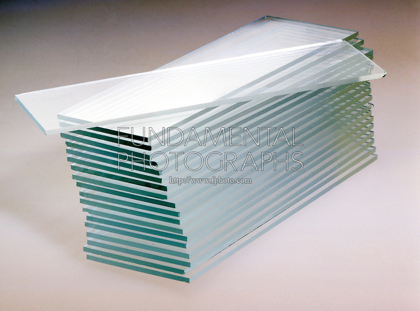 STACKED SHEETS OF GLASS<br />