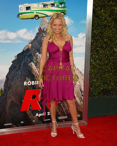 "KRISTIN CHENOWETH.At Columbia Pictures' L.A. Film Premiere of ""RV"" held at The Mann Village Theatre in Westwood , California, .USA, April 23rd 2006..full length fuchsia pink dress gold beads necklace.Ref: DVS.www.capitalpictures.com.sales@capitalpictures.com.©Debbie VanStory/Capital Pictures"