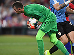 Fernando Muslera of Uruguay grabs a shot on goal during an international friendly game against the USA on September 10, 2019 at Busch Stadium in St. Louis, Missouri USA<br /> AFP Photo by Tim VIZER
