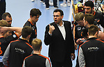 08.02.2020, GER, VBL, SVG Lueneburg vs Berlin Recycling Volleys, im Bild Trainer Cedric Enard (Berlin) / Foto © nordphoto/ Witke