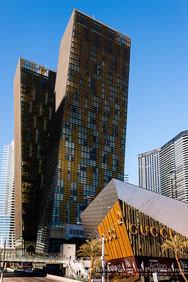 United States, Nevada,  Las Vegas Strip. Tall buildings.