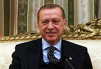 Pictured: Turkey President Recep Tayyip Erdogan in the official Presidential Mansion <br /> Re: Turkey's president Recep Tayyip Erdogan has begun a landmark visit to Greece. Thursday 07 December 2017