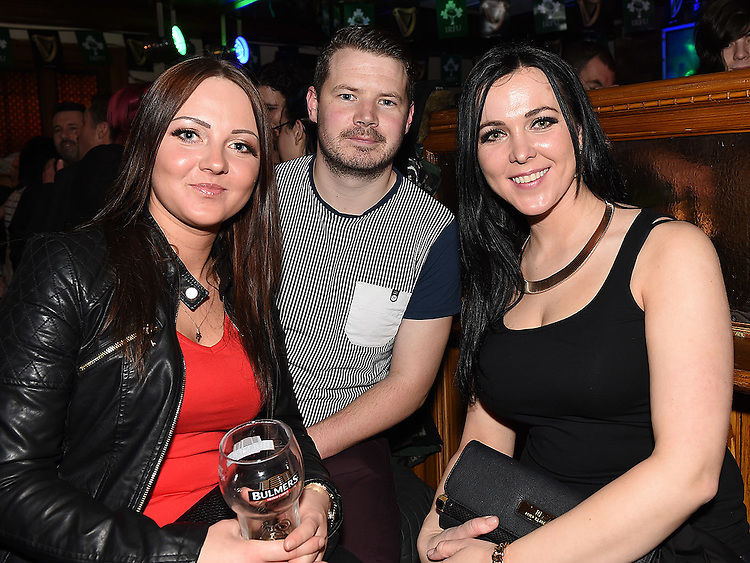Inga Grinievciu, Chris Brady and Chievdo Paseum pictured at the launch of the Alice Turner charity CD in McPhail's. Photo:Colin Bell/pressphotos.ie
