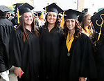 Wildcats' softball players, Cara McCarthy, Andi Lee and Madi Gonzalez pose before the Western Nevada College commencement at the Pony Express Pavilion, in Carson City, Nev., on Monday, May 19, 2014. <br /> Photo by Cathleen Allison/Nevada Photo Source