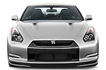 Straight front view of a 2009 Nissan GTR Coupe