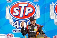 Winner Matt Kenseth, (#20) in Victory Lane...STP hat
