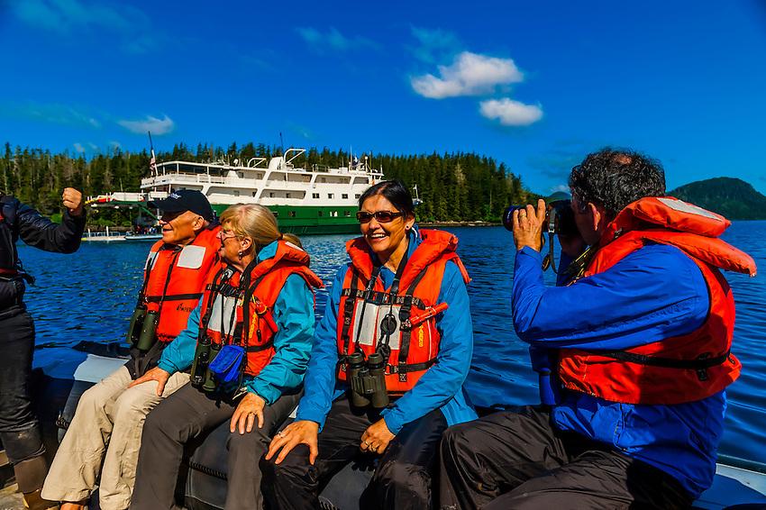 Skiff excursion from the Wilderness Explorer (small cruise ship), Magoun Islands State Marine Park, Krestof Sound,  Inside Passage, Southeast Alaska USA.