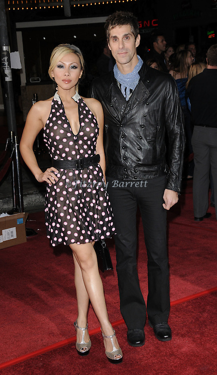 Perry Farrell and wife etty Farrell arriving at the Los Angeles premiere of Twilight at Mann Village theater Westwood, Ca. November 17, 2008. Fitzroy Barrett