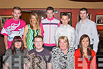 Birthday.--------.Jason Fitzgerald(seated 2nd from Lt)Spa Rd Tralee dined in Kirbys Brogue Inn Rock St Tralee last Friday night with his family for his 30th,also seated L-R Tina,mom Shelia,and Lyndsey Kelly,(back)L-R Garry,Ciara,Brian,Martin and Mark Fitzgerald.   Copyright Kerry's Eye 2008