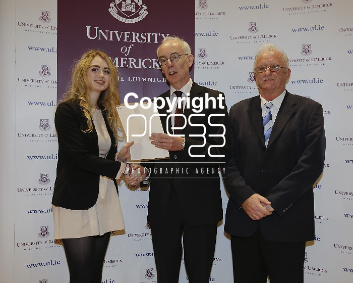06/12/2013 Sophie Hackett, Crescent College, Limerick,  pictured a at a scholarship award ceremony at the University of Limerick. Picture: Don Moloney / Press 22