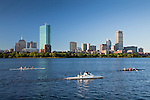 Rowing on the Charles River in Boston, MA, USA