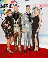 LOS ANGELES, CA - OCTOBER 09: Tyler Hubbard (2nd L) and Brian Kelley (2nd R) of Florida Georgia Line attend the 2018 American Music Awards at Microsoft Theater on October 9, 2018 in Los Angeles, California.  <br /> CAP/MPI/IS<br /> &copy;IS/MPI/Capital Pictures