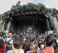 General view as Future Islands perform during British Summertime Music Festival at Hyde Park, London, England on 18 June 2015. Photo by Andy Rowland.