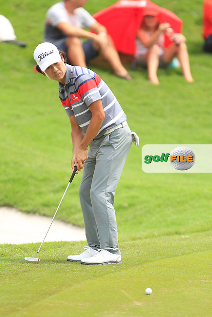 Kevin Na (USA) on the 14th during Round 4 of the CIMB Classic in the Kuala Lumpur Golf &amp; Country Club on Sunday 2nd November 2014.<br /> Picture:  Thos Caffrey / www.golffile.ie