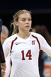 10 September 2015: Stanford's Halland McKenna. The University of North Carolina Tar Heels hosted the Stanford University Cardinal at Carmichael Arena in Chapel Hill, NC in a 2015 NCAA Division I Women's Volleyball contest. North Carolina won the match 25-17, 27-25, 25-22.