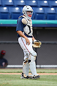 October 5, 2009:  Catcher Adrian Nieto of the Washington Nationals organization during an Instructional League game at Space Coast Stadium in Viera, FL.  Nieto was selected in the 5th round of the 2008 MLB Draft.  Photo by:  Mike Janes/Four Seam Images