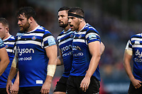 Charlie Ewels of Bath Rugby rallies his team-mates. Gallagher Premiership match, between Bath Rugby and Sale Sharks on December 2, 2018 at the Recreation Ground in Bath, England. Photo by: Patrick Khachfe / Onside Images