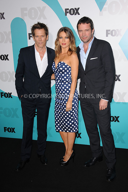 WWW.ACEPIXS.COM . . . . . .May 14, 2012...New York City....Kevin Bacaon, Natalie Zea and James Purefoy attending the 2012 FOX Upfront Presentation in Central Park on May 14, 2012  in New York City ....Please byline: KRISTIN CALLAHAN - ACEPIXS.COM.. . . . . . ..Ace Pictures, Inc: ..tel: (212) 243 8787 or (646) 769 0430..e-mail: info@acepixs.com..web: http://www.acepixs.com .