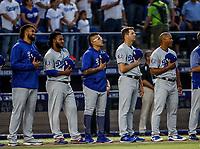 Julio Urias (c)<br /> Acciones del partido de beisbol de los Dodgers de Los Angeles contra Padres de San Diego, durante el primer juego de la serie las Ligas Mayores del Beisbol en Monterrey, Mexico el 4 de Mayo 2018.<br /> (Photo: Luis Gutierrez)