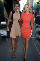 NEW YORK CITY,NY- JULY 25, 2012: Robin Roberts and Lara Spencer seen at Good Morning America Studios in New York City. July 25, 2012. © RW/MediaPunch Inc. /NortePhoto.com<br />