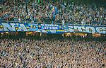 Solna 2015-08-10 Fotboll Allsvenskan AIK - Djurg&aring;rdens IF :  <br /> Djurg&aring;rdens supportrar under matchen mellan AIK och Djurg&aring;rdens IF <br /> (Foto: Kenta J&ouml;nsson) Nyckelord:  AIK Gnaget Friends Arena Allsvenskan Djurg&aring;rden DIF supporter fans publik supporters