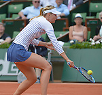Maria Sharapova (RUS) defeats Vitalia Diatchenko (RUS) 6-3, 6-1 at  Roland Garros being played at Stade Roland Garros in Paris, France on May 27, 2015