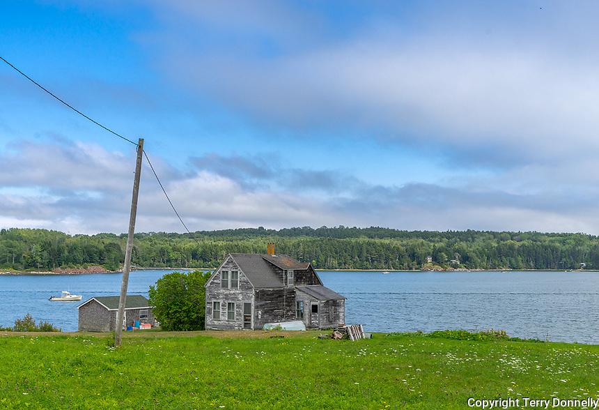 Central Coast, Maine:<br /> Weathered house on the Maine coast