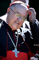 Cardinal Pedro Ricardo Barreto Jimeno,Pope Francis attends the celebration of the Season of Creation with the planting of a tree and a dedication of the Synod for the Amazon to St. Francis, on the occasion of the feast of St. Francis of Assisi. in the Vatican gardens.Vatican City, October 4th, 2019.