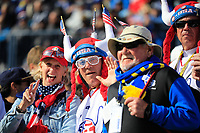 US fans during the Saturday Fourballs at the Ryder Cup, Le Golf National, Paris, France. 29/09/2018.<br /> Picture Phil Inglis / Golffile.ie<br /> <br /> All photo usage must carry mandatory copyright credit (&copy; Golffile | Phil Inglis)