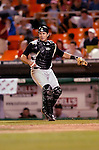 29 June 2005: Humberto Cota, catcher for the Pittsburgh Pirates, during a game against the Washington Nationals. The Nationals rallied to defeat the Pirates 3-2 in a rain delayed game at RFK Stadium in Washington, DC.  Mandatory Photo Credit: Ed Wolfstein