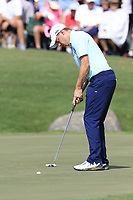 Matthew Fitzpatrick (ENG) putts on the 18th green during Friday's Round 2 of the 2017 PGA Championship held at Quail Hollow Golf Club, Charlotte, North Carolina, USA. 11th August 2017.<br /> Picture: Eoin Clarke | Golffile<br /> <br /> <br /> All photos usage must carry mandatory copyright credit (&copy; Golffile | Eoin Clarke)
